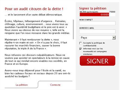 exigeons l'audit de la dette, signez la pétition !