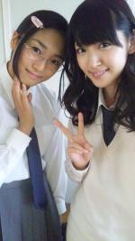 Photo dans le blog du groupe FLOWER (entrée d'Erina Mizuno)