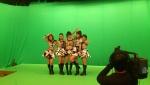 Tournage des ℃-ute pour MEDIA★IDOL MUSEUM